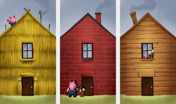 Les trois petits cochons - Dessin anime les 3 petit cochons ...