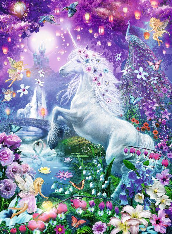 Puzzle licorne dans la for t de paillettes edition brillant - Image de licorne ...