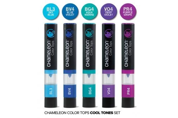 Chameleon Art Products Chameleon Pens 5 marqueurs /à Base dalcool Tons Terres