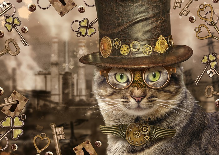 Puzzle Steampunk - Chat