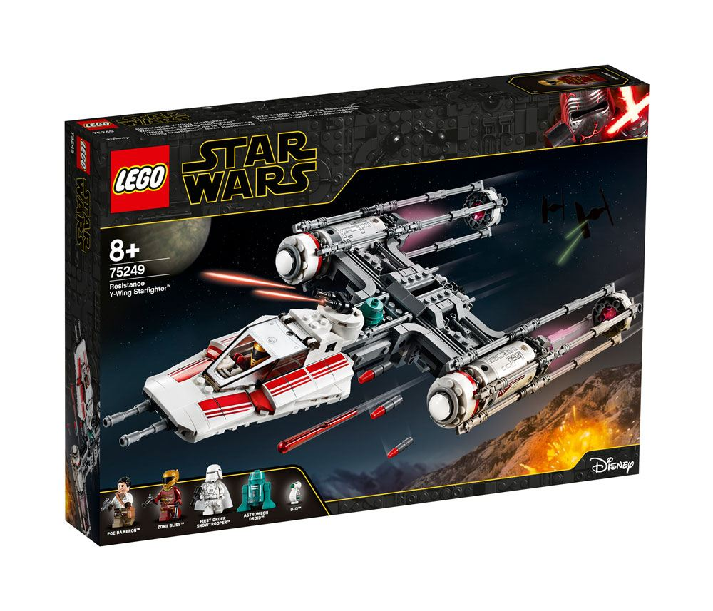 75249,... LEGO-Y Wing Starfighter de la Résistance Star Wars Jeu Aventure