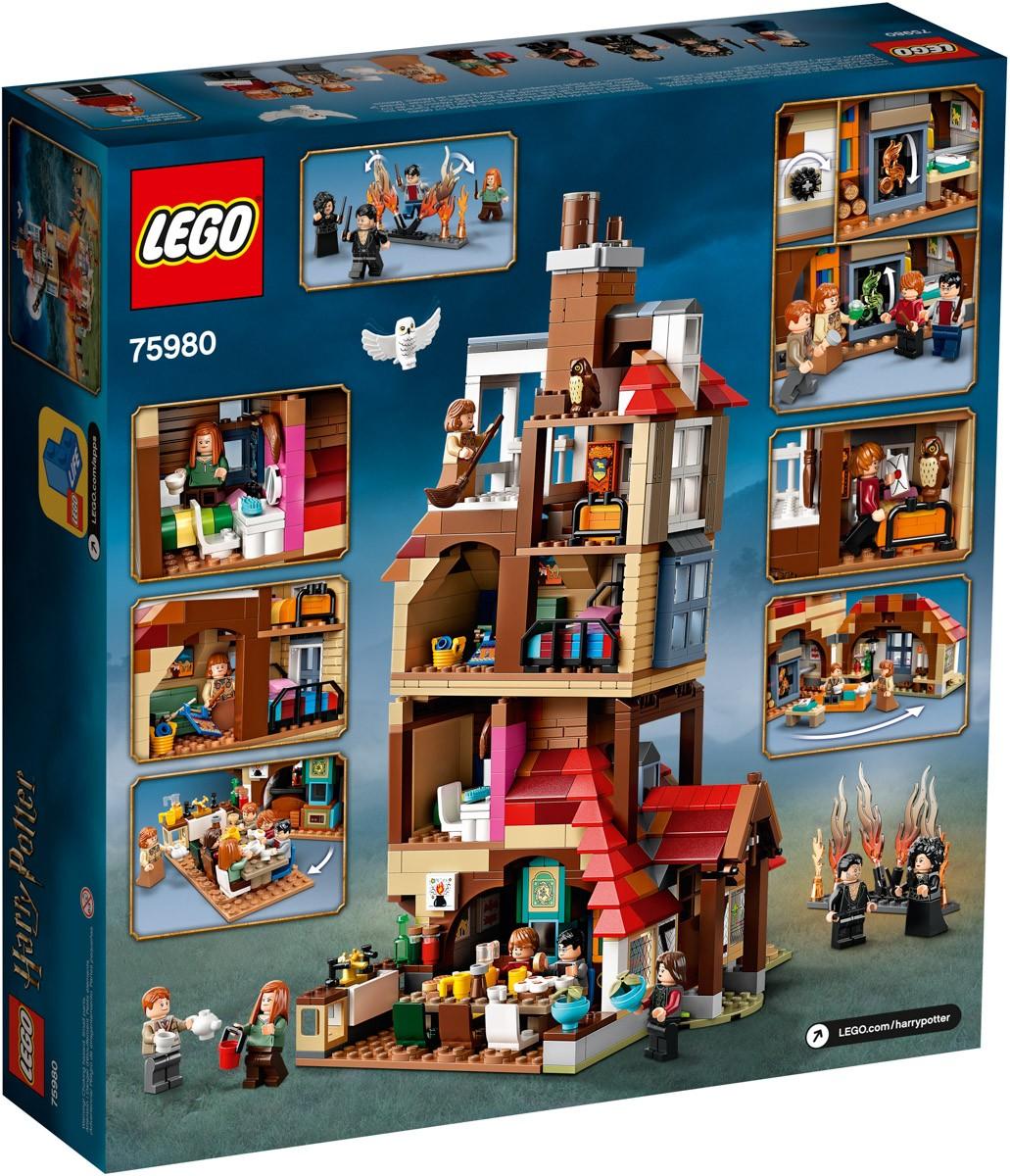 Lego Harry Potter L Attaque Du Terrier Des Weasley 75980